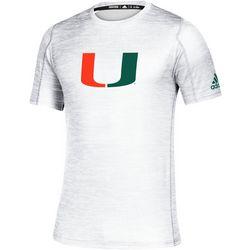 Miami Hurricanes Mens Game Mode Training T-Shirt by Adidas