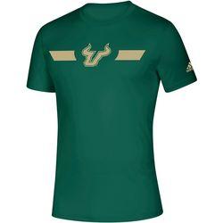 USF Bulls Mens Locker Stripe T-Shirt by Adidas