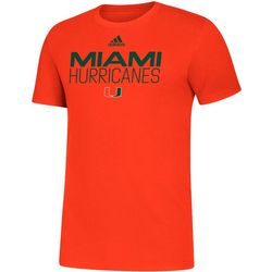 Miami Hurricanes Mens Locker Stacked T-Shirt by Adidas