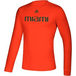 Miami Hurricanes Mens Off Front T-Shirt by Adidas