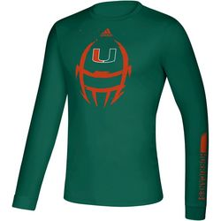 Miami Hurricanes Mens Locker Helmet T-Shirt by Adidas