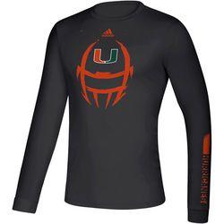 Miami Hurricanes Mens Locker Helmet T-Shirt by Adidas