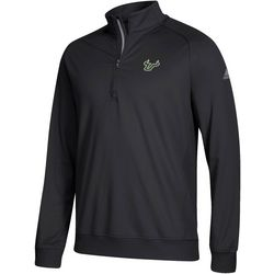 USF Bulls Mens Zipper Placket Pullover by Adidas