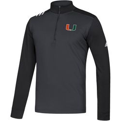 Miami Hurricanes Mens Athletic Pullover by Adidas