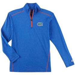 Florida Gators Mens Logo Slub Quarter Zip Shirt by Champion