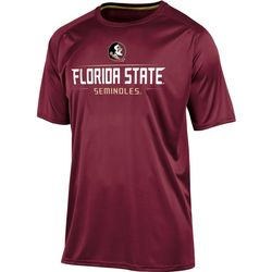 Florida State Mens Logo Crew T-Shirt by Champion