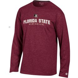 Florida State Mens Logo Long Sleeve Crew T-Shirt by Champion