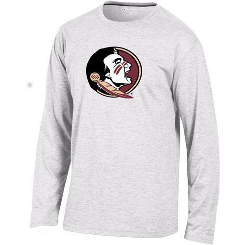 04686225b99 Florida State Mens Logo Long Sleeve T-Shirt by Champion