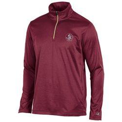 Florida State Mens Chest Logo Quarter Zip Jacket by Champion
