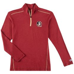 Florida State Mens Logo Quarter Zip Slub Shirt by Champion