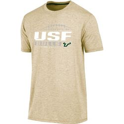 USF Bulls Mens Heathered Football Crew T-Shirt by Champion