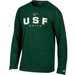 USF Bulls Mens Arch Logo Long Sleeve T-Shirt by Champion