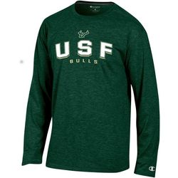 USF Bulls Mens Arch Logo Long Sleeve T-Shirt by Champion