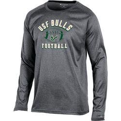 USF Bulls Mens Heathered Logo T-Shirt by Champion