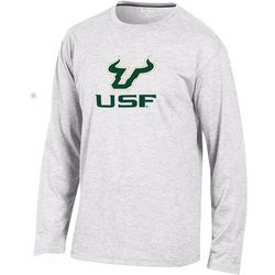 USF Bulls Mens Logo Long Sleeve T-Shirt by Champion