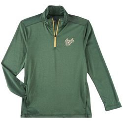 USF Bulls Mens Logo Quarter Zip Long Sleeve Shirt