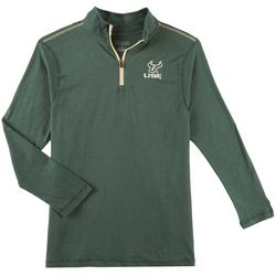 USF Bulls Mens Logo Slub Quarter Zip Shirt by Champion