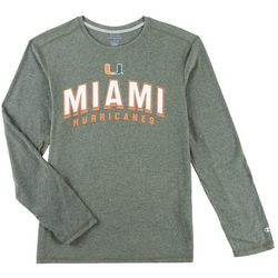 Miami Hurricanes Mens Arch Long Sleeve T-Shirt by Champion