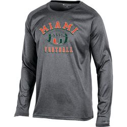 Miami Hurricanes Mens Block Long Sleeve T-Shirt