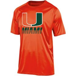 Miami Hurricanes Mens Logo Short Sleeve T-Shirt by Champion