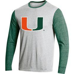 Miami Hurricanes Mens Heathered T-Shirt by Champion
