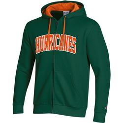 Miami Hurricanes Mens Logo Zipper Hoodie by Champion