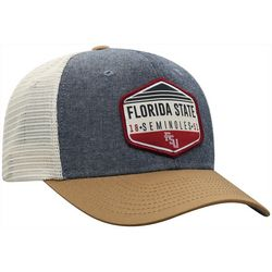 Florida State Mens Chambray Trucker Hat by Top of the World