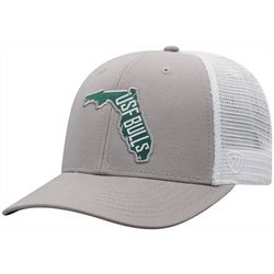 USF Bulls Mens Trucker Snapback Hat by Top of the World