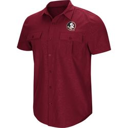 Florida State Mens Roberto Woven Shirt by Colosseum