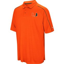 Miami Hurricanes Mens Setter Polo Shirt by Colosseum