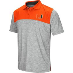 Miami Hurricanes Mens South Paw Polo Shirt by Colosseum