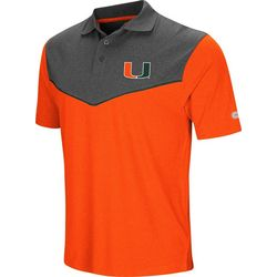 Miami Hurricanes Mens Wedge Polo Shirt by Colosseum