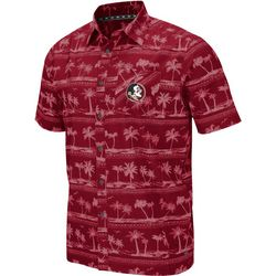 Florida State Mens Hilo Camp Shirt by Colosseum
