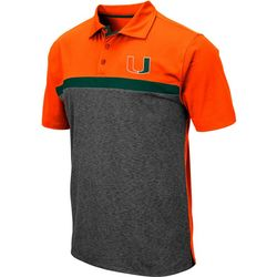 Miami Hurricanes Mens Capital City Polo Shirt by Colosseum