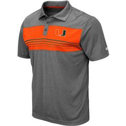 Miami Hurricanes Mens Smithers Polo Shirt by Colosseum