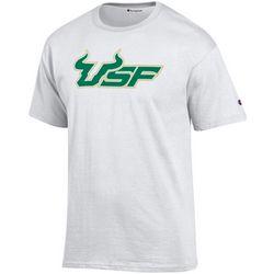USF Bulls Mens Logo Short Sleeve T-Shirt by Champion