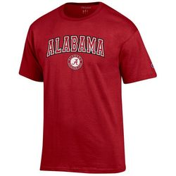 Alabama Mens Logo Print T-Shirt by Champion