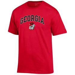 Georgia Bulldogs Mens Logo Print T-Shirt by Champion