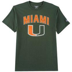 Miami Hurricanes Mens Arch Logo T-Shirt by Champion