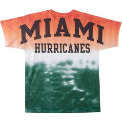 Miami Hurricanes Mens Dip Dye T-Shirt by Victory