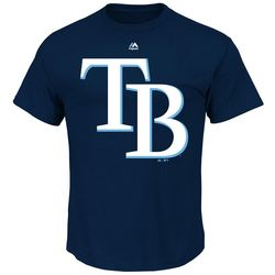 Tampa Bay Rays Mens Official Logo T-Shirt by Majestic