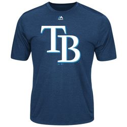 Tampa Bay Rays Mens Logo T-Shirt by Majestic