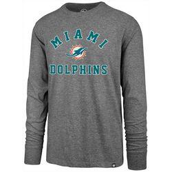 Miami Dolphins Mens Varsity Long Sleeve T-Shirt by 47 Brand