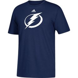 Tampa Bay Lightning Mens Bolt Logo T-Shirt by Adidas