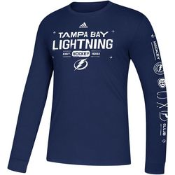 Tampa Bay Lightning Mens Crew Long Sleeve T-Shirt by Adidas