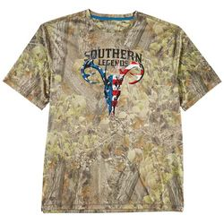 Southern Legends Mens Southern-Tec Flag Skull T-Shirt