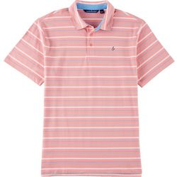 Tackle & Tides Mens Stripe Yarn Dyed Short Sleeve Polo Shirt