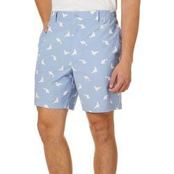 Tackle & Tides Mens Seal Print Front Zip Shorts