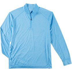 Tackle & Tides Mens Heathered Zip Placket Pullover