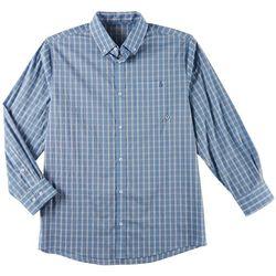 Tackle & Tides Mens Plaid Button Down Long Sleeve Shirt